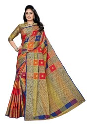 Casual Festive Wear Banarasi Silk Saree