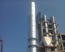 Thermal Spray Zinc Coating on Chimney