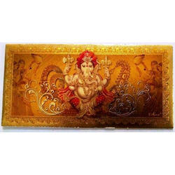 Gold Plated Envelopes for Ganesh Puja