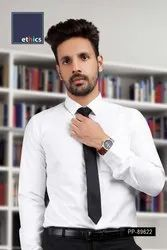 White Men's Formal Readymade Uniform Shirt PP-89622