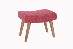 Wooden Plain Rug Upholstered Bar Stool