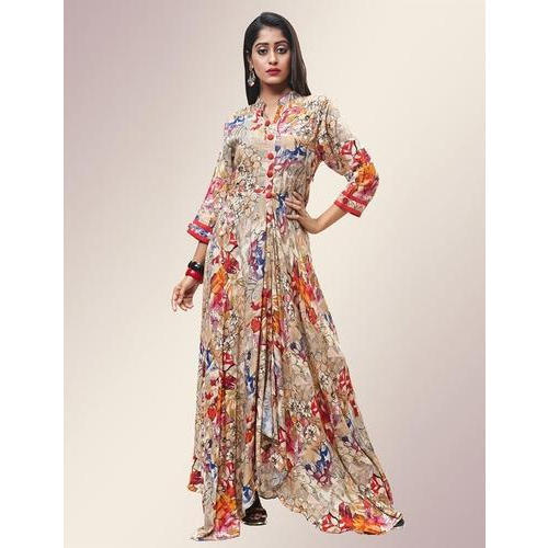 4707937d823cd1 Fidaindia Women Floor Length Rayon Printed Gown, Size: M, Rs 1050 ...