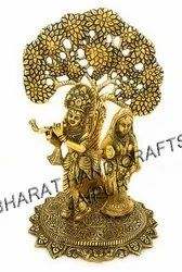 Metal Golden Plated Radha Krishna Tree