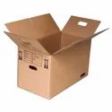 Corrugated Paper 2 Ply Plain Slotted Carton Box, For Pharmaceutical, Box Capacity: 6-10 Kg