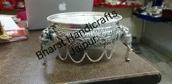 Antique Silver Plated Metal Urli