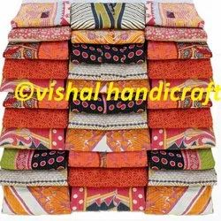 Indian Vintage Kantha Quilt Handmade Cotton Blanket Throw Bedspread