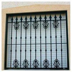 Iron Window Black Grill
