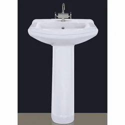 Ceramic Simi Wash Pedestal Wash Basins, For Bathroom, Model Name/Number: Set