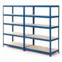 5-7 Feet Mild Steel Warehouse Slotted Angle Rack