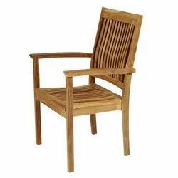 Brown Wood Arm Chair