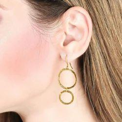 Women Fashion Geometric Round Dangle Earrings