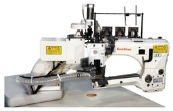 Direct drive, 4-Needles, Flat Seamer, Interlock Sewing
