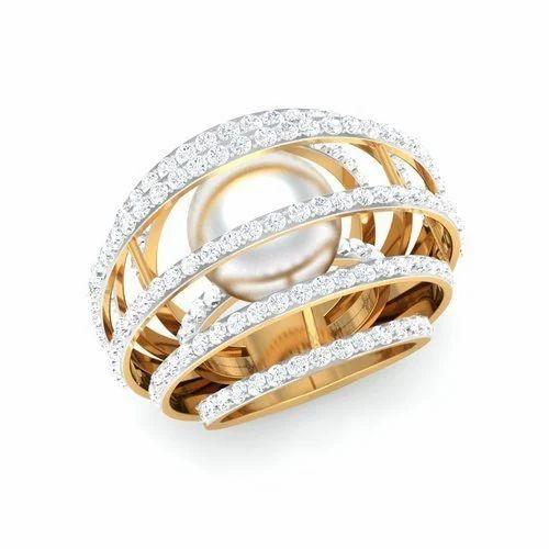 Golden Diamond Ring at Rs 25000 piece Karol Bagh Delhi ID