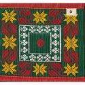 Rectangular Hand Weave 40 X 78 Inch Cotton Silk Jamakkalam Carpet, For Home