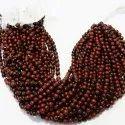 Mahagoni/mahogany Obsidian Smooth Round Beads Mala