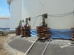 35 Ton Hydraulic Jacks for Tank foundation repair