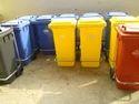 Plastic Wheelie Pedal Dustbin