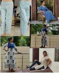 Cotton Hnad Block Printed Ladies Garments
