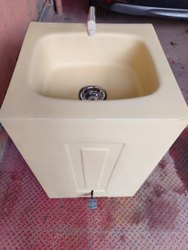 rj fibre Hands free Frp wash basin