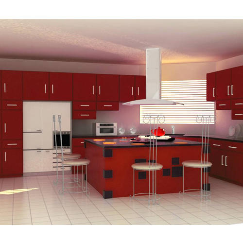 Open Kitchen Noida: Trendy Modular Kitchen At Rs 950 /square Feet