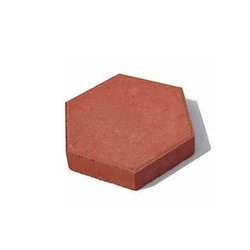 Red Concrete Colored Hexagonal Paver Block
