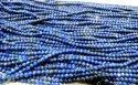 Natural Lapis Lazuli Size 3 mm Rondelle Faceted Beads Strand 13 Inches.