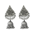 Metal Earrings With Mantra