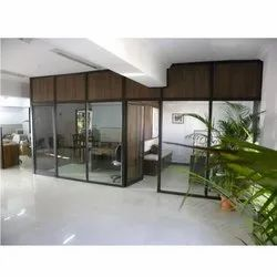 KO-PA-001 Wooden Finish Office Partition