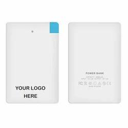 White Card Shape Power Bank, for 1000 - 5000 mAH