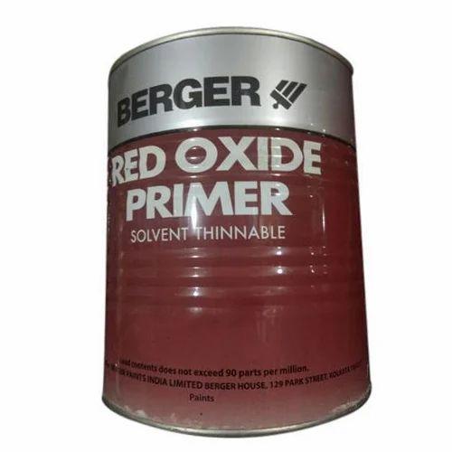 berger red oxide primer packaging 4 litre rs 90 litre. Black Bedroom Furniture Sets. Home Design Ideas