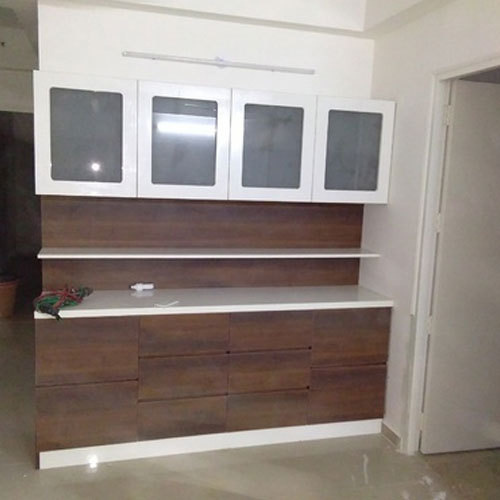 Aluminium Modular Kitchen At Rs 1100 Square Feet: Brown Modular Kitchen Cupboard, Rs 1100 /square Feet