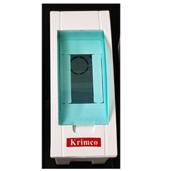 Krimco ABS 2 Pole Plastic Glass Door MCB Box for Electric Fittings