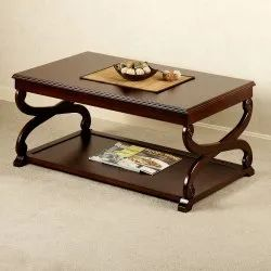 Brown Simple Wooden Coffee Table, For Home