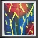 Artistter Acrylic Abstract Painting For Home Decor, Size: 1 X 1 Feet