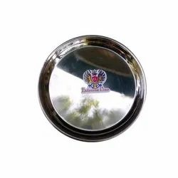 Extreme Line Round Stainless Steel Dinner Plate