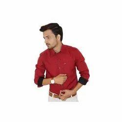 Hrdya Collar Neck Mens Club Wear Shirt, Size: L