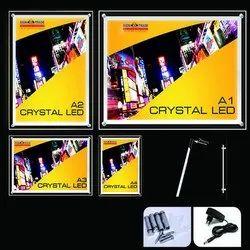 Acrylic Crystal LED Backlit Display Frame, For Advertising