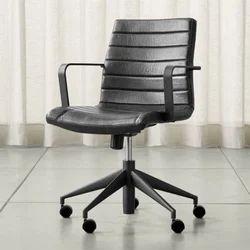 Black Revolving Office Medium Back Chair