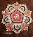 Acrylic Kundan Jarokha Style Rangoli