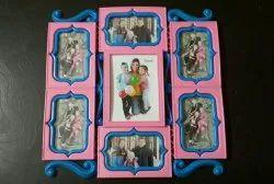 Pink Rectangular Plastic Photo Frame, Size: 3*6inch
