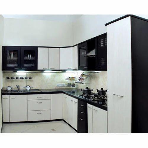 MDF V Shape Modular Kitchen, Rs 950 /square Feet