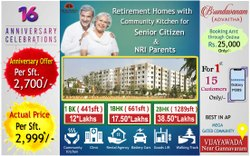 1 BHK Flats For Sale In Gannavaram,Vijayawada
