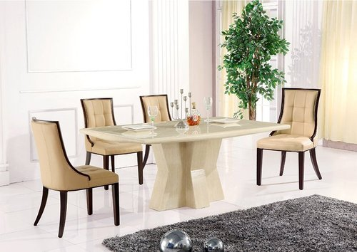 white marble dining table, sathya corporation | id: 10457515988