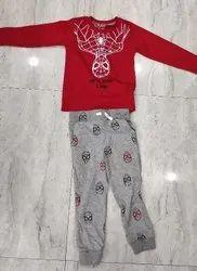 100% Cotton Casual Wear Kids Clothing Set, Medium