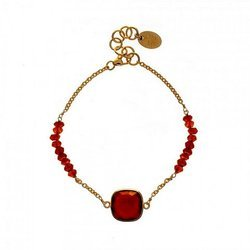 Pretty Hot Fashionable New Style Chain Beaded Mix Bracelet Micron Gold Plated Jewelry