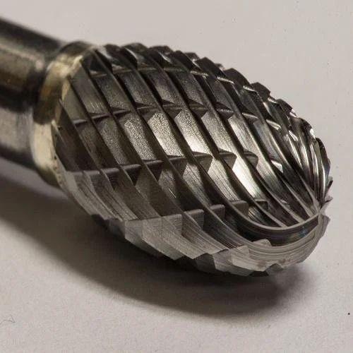 Carbide Burr 6mm Oval shape on 3mm Shank