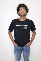 Men Printed Black T-Shirt