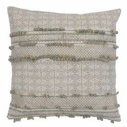 Embroidered Accent Contemporary Cotton Cushion Cover