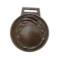 Round School Embossed  Bronze Medal