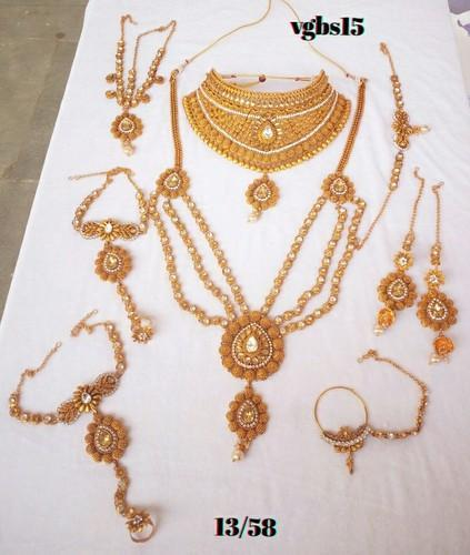 6a26a74595ef0 Indian Bridal Necklace Set Gold Plated Cz Women Fashion Jewelry